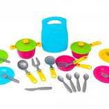Кухонный набор 2 посудка 23 предмета Технок 1677 игрушечная посуда