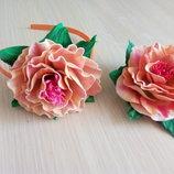 брошь цветок из фоамирана , отличный подарок
