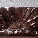 Стильный клатч темное серебро