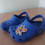 Кроксы детские 6-7 р стелька 14 см Crocs Крокс Итали оригинал лето синие море бассейн