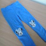 Лосины девочке 3-4 года 104 см Disney Дисней Minnie Mouse синие