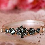 Изысканный браслет кристаллы Сваровски Pilgrim Дания ювелирная бижутерия ручной работы