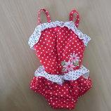 Купальник девочке 0-6 мес Mothercare Мазекеа красный в горох оригинал бренд