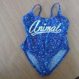 Купальник девочке 2 года Animal море бассейн синий в цветочки