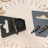 Набор серьги и кольцо PILGRIM Дания элитная ювелирная бижутерия ручной работы