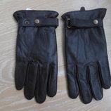 Перчатки кожанные женские L/XL коричневые новые