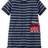 Ромпер песочник для мальчика Carters Пожарная машина
