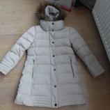 Пуховик девочке 7-8 лет 128 см Zara Зара оригинал зима фирменный