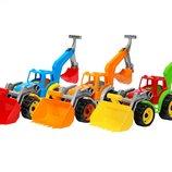 Трактор с двумя ковшами Технок 3671 пластиковые машинки