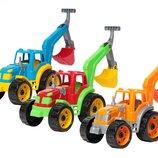 Трактор с ковшом Технок 3435 пластиковые машинки