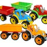 Трактор с прицепом Технок 3442 пластиковые машинки