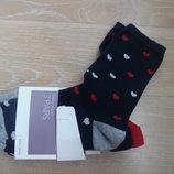 Носки John Lewis новые в упаковке 3 шт комплект стопа 19 см размер 4-8 44% котон