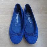 Туфли женские 38 р стелька 24 см Marks&Spencer Маркс и Спенсер кожа замша натуральная синие новые