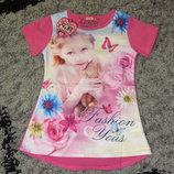 Распродажа Оригинальные футболки-тунички для маленьких модниц.