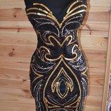 Платье-Бюстье От H&M Пришитые Паетки