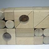 Деревянный конструктор 24 деталей городок Геометрик RTK7192 Еко