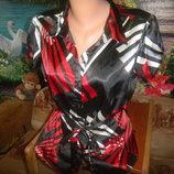 K& d атласная блузка с поясом р 16 на 48-52 р