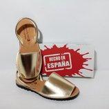 Абаркасы золотые, качественная испанская обувь. менорки