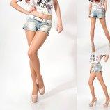 шорты Lady Forgina рваные белый ремень 0635