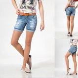 шорты Lady Forgina женские оранжевый ремень 0715