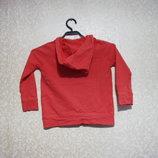 Кофта кенгуру 3-5 лет, OKAIDI с капюшоном, реглан футболка девочка, мальчик детский, хлопок.