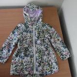 Курточка ветровка девочке 4-5 лет 110 см F&F оригинал бренд весна осень легкая цветы