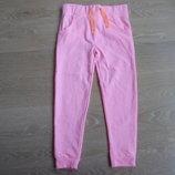 Штаны спортивные девочке 6 лет E-vie оригинал бренд 34% котон розовые стильные новые