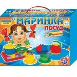 Посудка Маринка Технок в картонной коробке 1554 игрушечная посуда