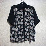 Блуза шифон, р.54-62, IMAGE лето, женская, полупрозрачная, нарядная