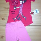 Летний костюм для девочки рр. 98-116 Турция Beebaby Бибеби