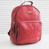 Рюкзак CHLOE красный женский рюкзак на каждый день скл2