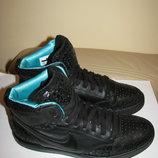 Кросівки високі дихаючі шкіряні брендові Nike Оригінал р.39 стопа 25 см