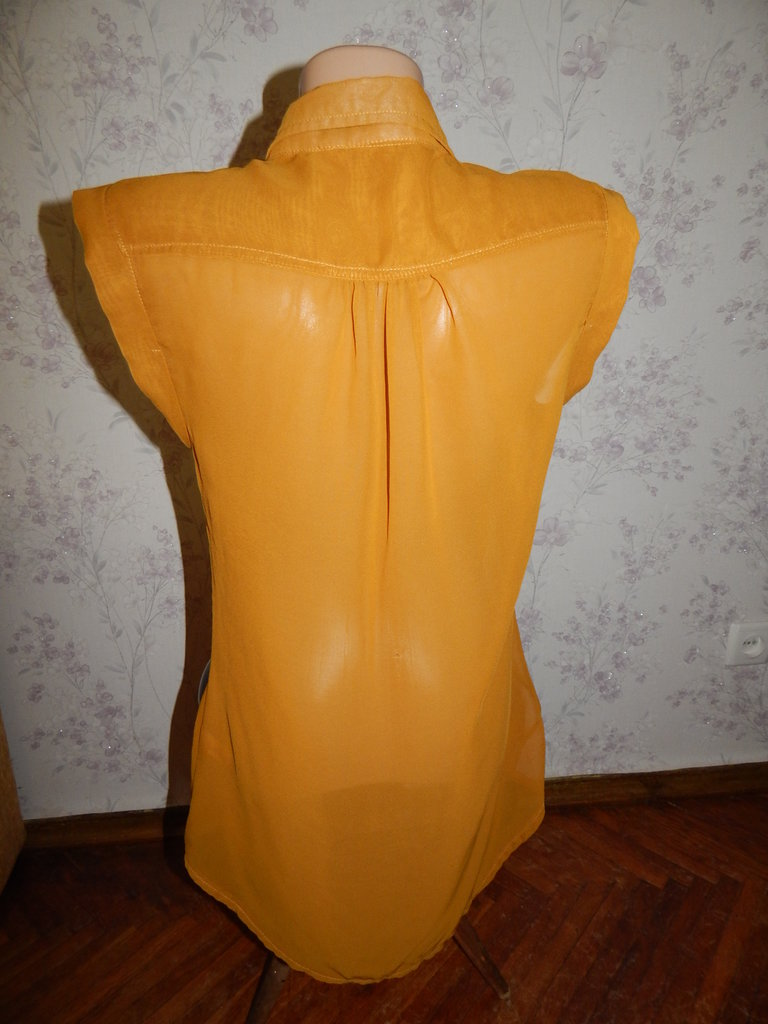 Прозрачная шифоновая блузка