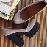 Шикарные кожаные туфли на осень Разные цвета Натуральная кожа / замша Размеры 36,37,38,39,40
