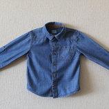 Стильная джинсовая рубашка F&F для юного модника
