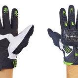 Мотоперчатки кожаные с закрытыми пальцами и протектором Alpinestars M10-BW кожа текстиль, M-XL