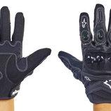 Мотоперчатки кожаные с закрытыми пальцами и протектором Alpinestars M11-BK кожа текстиль, M-XL