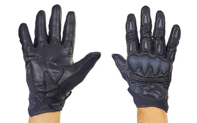 Мотоперчатки кожаные с закрытыми пальцами и протектором FOX 369 кожа текстиль, L/XL
