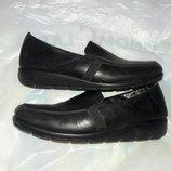 Балетки кожаные 37-38размер на широкую ногу