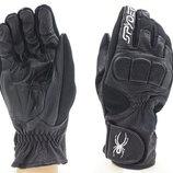 Мотоперчатки кожаные с закрытыми пальцами и протектором Spider 351 кожа текстиль, L/XL
