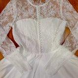 Шикарное нарядное платье с кружевом р. S-M в наличии