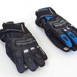 Мотоперчатки комбинированные с закрытыми пальцами и протектором Scoyco MC17B 2 цвета, M/L