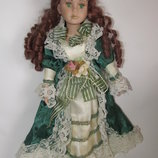 Коллекционная винтажная кукла фарфор фарфоровая куколка