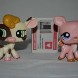 Пет шопы pet shop игрушки зоомагазин Littlest pet shop LPS коровка олененок стоячка