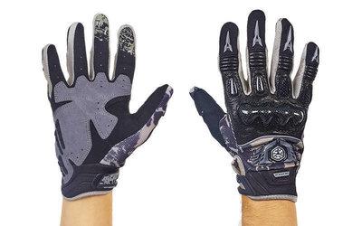Мотоперчатки комбинированные с закрытыми пальцами Scoyco MX49-BK размер M-XL