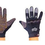 Мотоперчатки текстильные с закрытыми пальцами Fox 4642 3 цвета, размер L