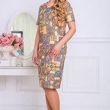 Оригинальное платье до 58 размера 807