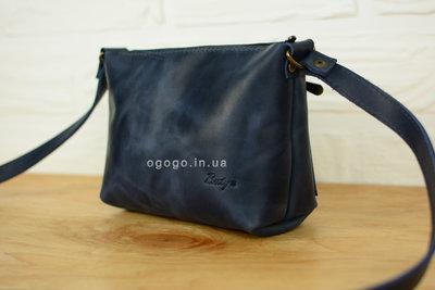 Кожа. Женская сумка ручной работы. Кожаный клатч. Кожаная синяя сумочка 5b6bf5bf592