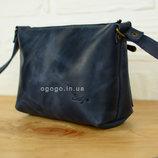 Кожа. Женская сумка ручной работы. Кожаный клатч. Кожаная синяя сумочка