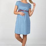 Летнее платье для беременных и кормящих, из тонкого джинса, звезды на голубом